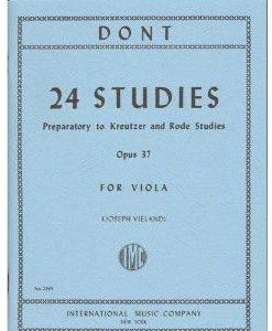 Dont Jakob 24 Studies Op 37: Preparatory to Kreutzer and Rode Studies Viola solo by Joseph Vieland